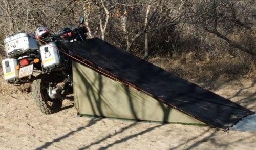 Compact motorbike camper tent