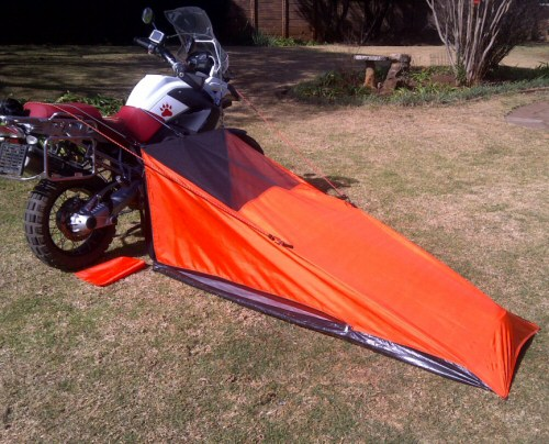 Off road motorcycle touring tent