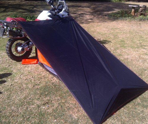 Motorbike touring tent dual sport motorcycles