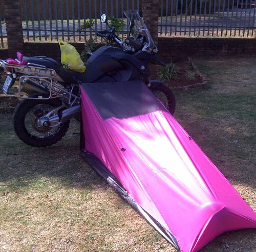 Ladies motorcycle touring tent