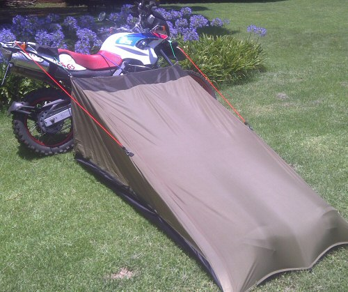 Compact motorbike touring tent
