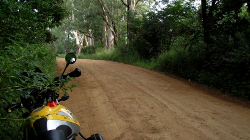 Motorcycle gravel route close to Johannesburg