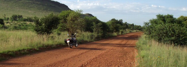 Motorcycle routes - Gravel road to Parys