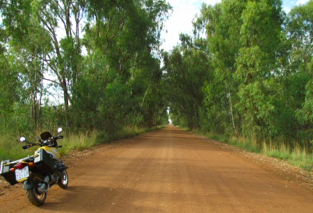Motorbike gravel route to Parys