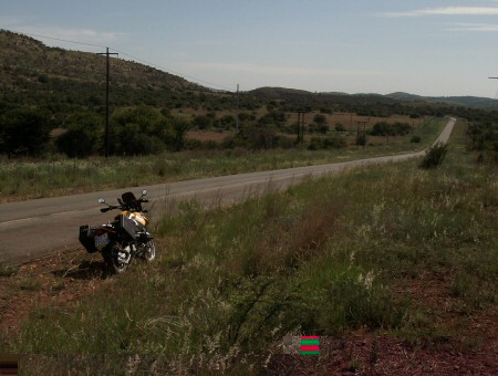 Tar road motorcycle route to Parys
